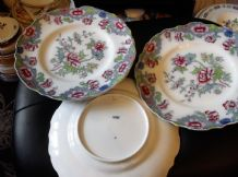 5 + 1 X RARE ANTIQUE PLATES HANDPAINTED COPELAND LATE SPODE 8036 CROWN IMP 9.75""